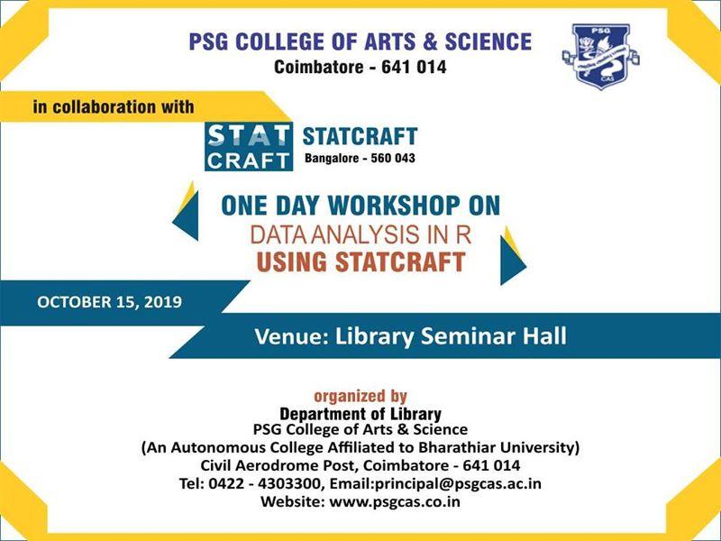 Statcraft Workshop In Coimbatore PSGCAS