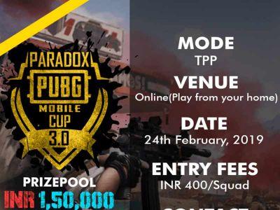 Paradox PUBG Mobile Cup 3.0