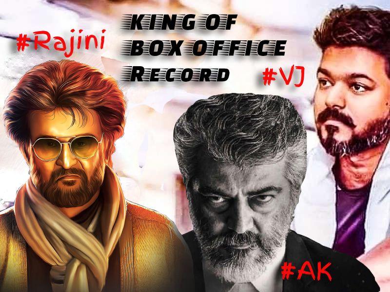King of box office record #Vijay #Ajith #Rajinikanth