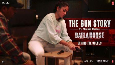 Mrunal`s Gun Story - Batla House  Mrunal Thakur, John Abraham, Nikkhil Advani  