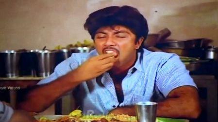 எனக்கு ரெண்டு Plate கோழி பிரியாணி வேணும் எடுத்துடுவா || Sathyaraj Eating Food Comedy Scenes