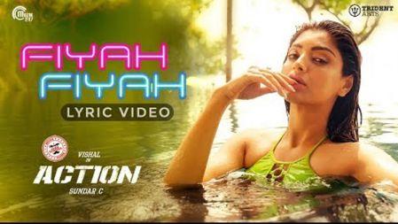 Fiyah Fiyah Lyric Video | Action |Vishal, Akanksha Puri | Hiphop Tamizha