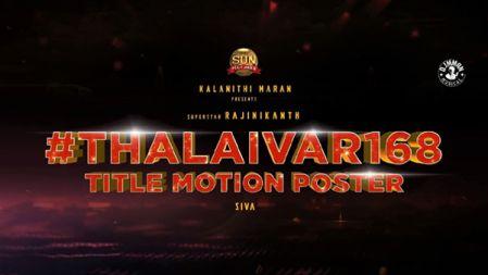 Annaatthe Title Motion Poster   Superstar Rajinikanth   Sun Pictures   Siva