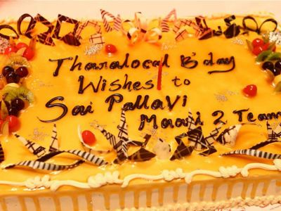 Sai Pallavi Bday celebration in Maari 2 Sets